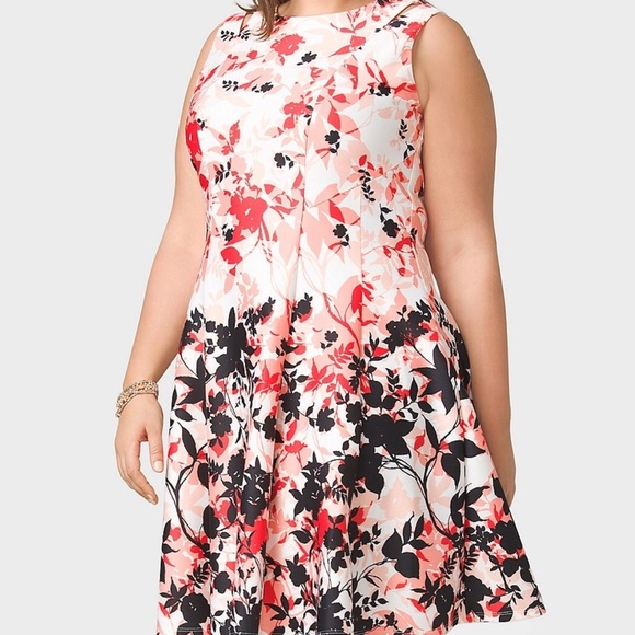 51be9856ec Dress Barn Dresses   Skirts - Dress barn ros   Ali floral fit and flare  dress